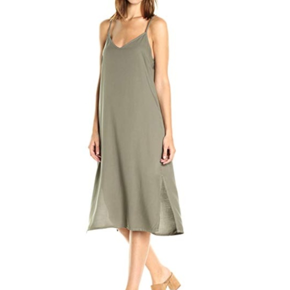 Splendid Dresses & Skirts - SPLENDID MILITARY OLIVE GREEN MIDI DRESS NWT